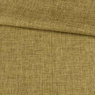 Рогожка деко коричнево-желтая меланж, ш.150