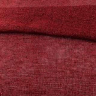 Рогожка деко красная темная меланж ш.150