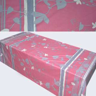 Сатин розово-серый с листьями (купон) ш.230