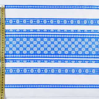 Ткань с украинским орнаментом Арлекин, раппорт 40см, ш.150