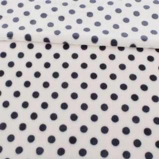 Велсофт односторонний белый в серый горох, ш.180
