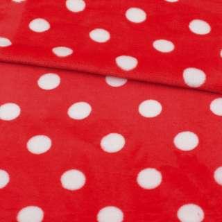 Велсофт двухсторонний красный в белый горох ш.185