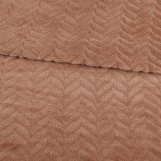Велсофт двухсторонний с тиснением елочка коричневый светлый ш.200