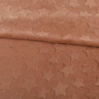 Велсофт двухсторонний с тиснением звездочки коричневый светлый ш.200