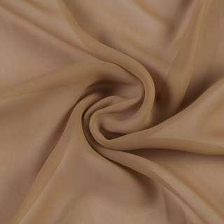 Креп гардинный коричневый светлый, ш.280