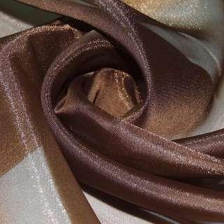 Кристаллон тюль коричневый темный, ш.280