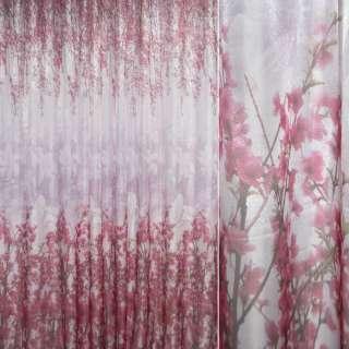 Кристаллон песочный с красными цветами сакуры ш.275