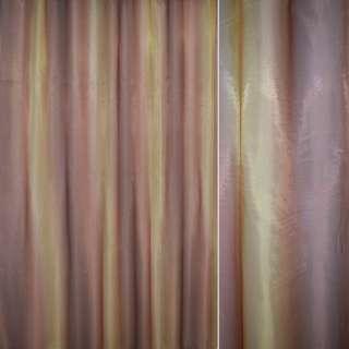Кристаллон тюль принт радуга золотисто-терракотовый, ш.270