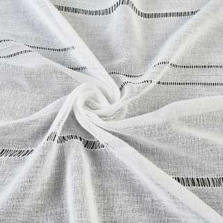 Лен гардинный с мережкой белый, ш.300