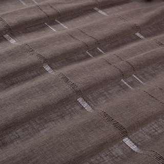 Лен гардинный с мережкой коричневый темный, ш.300