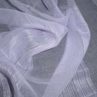 Лен французский сиреневый бледный с узкими атласными полосками ш.275