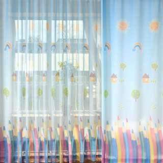 Лен гардинный Цветные карандаши, ш.275