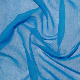 Лен французский гардинный синий светлый, ш.280