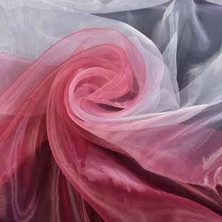 Органза-радуга бело-бордовая ш.275