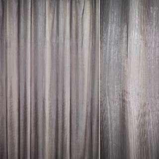 """Органза жатая коричнево-серая """"радуга"""" ш.280"""