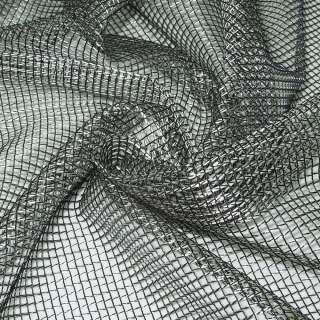 Сетка тюль 5мм серебристо-черная, ш.280
