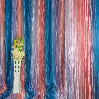 Атлас жатый фиолетово-розовый радуга ш.275