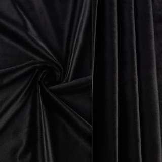 Велюр портьерный черный ш.280