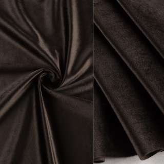 Велюр портьерный серо-коричневый темный ш.280