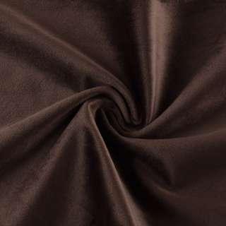 Велюр портьерный коричнево-серый матовый ш.280