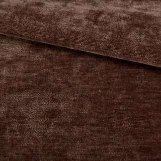 Велюр двухсторонний коричневый темный ш.280
