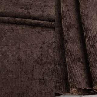 Велюр блэкаут шторный коричневый, ш.280