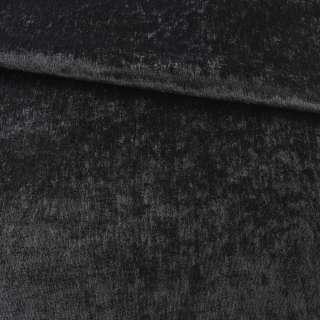 Велюр блэкаут шторный черный, ш.280