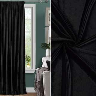 Велюр для штор черный, ш.300