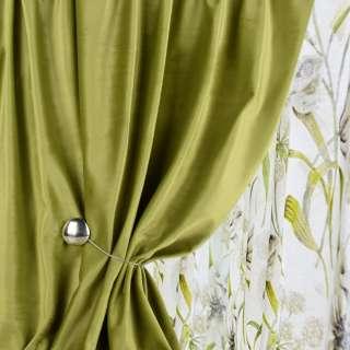 Велюр для штор оливково-зеленый (каталог 75) ш.280
