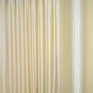Шенилл для штор полосы шенилла молочные на бежевом фоне, ш.280
