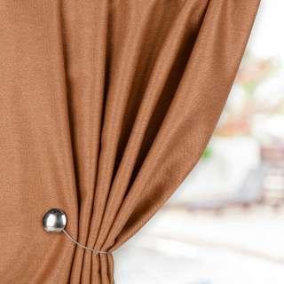 Жаккард для штор твидовая елочка коричневый светлый, ш.280