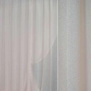 Кристаллон портьерный бледно-розовый травка с люрексом ш.280