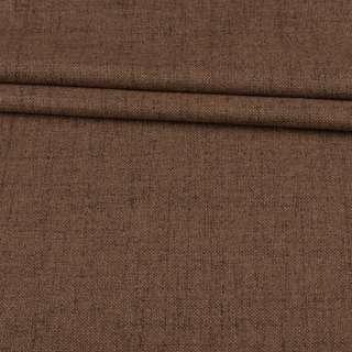 Блэкаут лен бежево-коричневый (на акриловой подложке), ш.280
