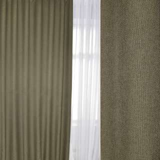 Блэкаут лен рогожка зелено-серая, ш.280