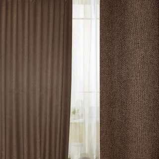 Блэкаут лен рогожка коричнево-горчичная темная ш.280