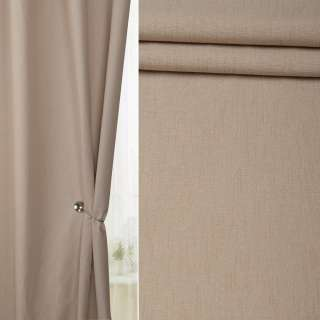Лен для штор песочный на белой плетеной основе, ш.138