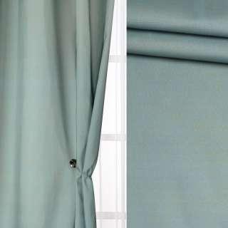 Лен для штор штрихи салатовые на серо-зеленом фоне, ш.130