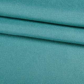 Рогожка мелкая блэкаут (софт изнанка) бирюзовая ш.280