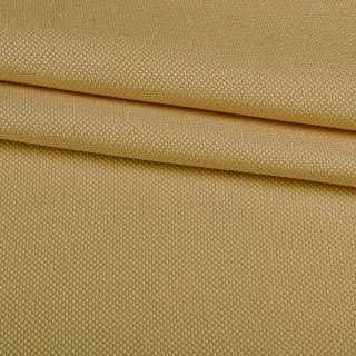 Рогожка мелкая блэкаут (софт изнанка) бежевая охра ш.275