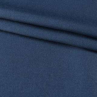 Рогожка мелкая блэкаут (софт изнанка) синяя лазурная ш.280