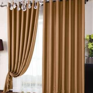 Софт блэкаут гладкий для штор коричневый светлый, ш.280