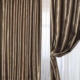 Софт блэкаут муаровый коричневый бледный, ш.280