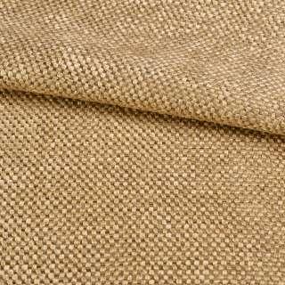 Рогожка шенилловая блэкаут янтарно-бежевая ш.280
