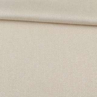 Рогожка интерьерная твидовая елочка песочный, ш.142