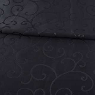 Жаккард скатертный завитки черный, ш.320