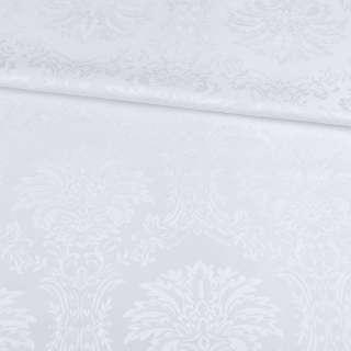 Жаккард скатертный вензеля белый, ш.320