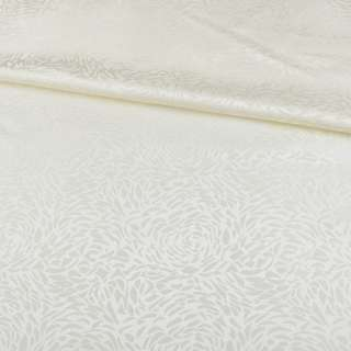 Жаккард скатертный розы молочный, ш.320