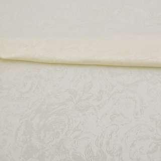 Жаккард скатертный розы крупные молочный, ш.320