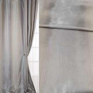 Шанзелизе для штор с серебристой нитью молочно-серая, ш.310