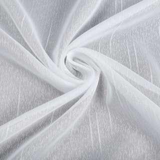 Креп гардинный черточки и штрихи длинные, белый с утяжелителем, ш.150